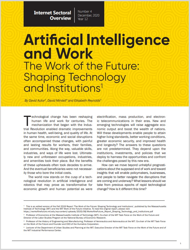 Year XII - N. 4 - Artificial Intelligence and Work